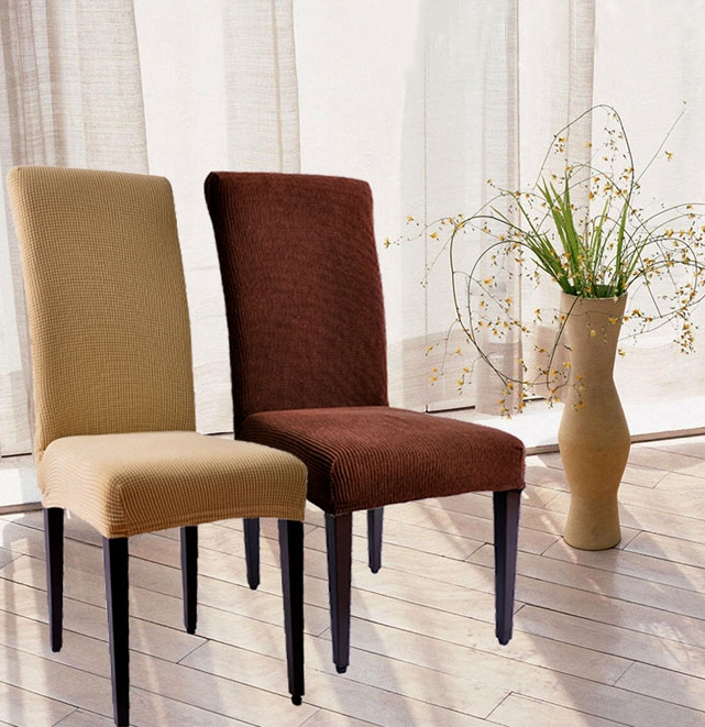 Beautiful ROMANZO Colorful Spandex Dining Chair Cover 1 Piece Universal Stretch Fabric  Covers For Restaurant Chairs Slipcovers