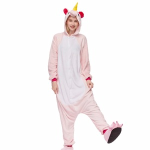 Image 5 - 겨울 Kigurumi 성인 동물 잠옷 여성 남성 잠옷 유니콘 팬더 스티치 고양이 onesies 성인 만화 코스프레 Homewear