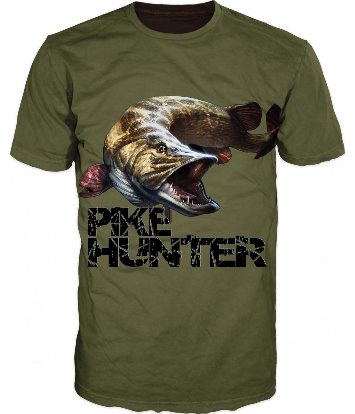 2018 Unique Camouflage Carp Hunter Fish 3D   T     Shirt   Oversized Hip Hop Crewneck Fashion Printed   T     Shirt