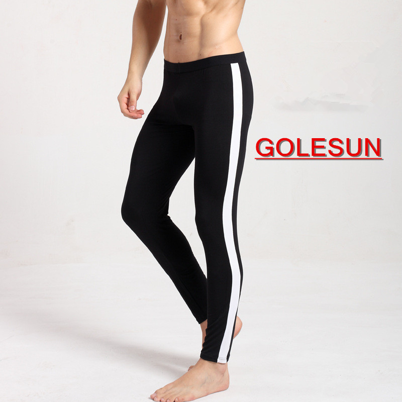 Autumn and winter  Mens leggings Warm trousers Fitness pants Slim underpants Fashionable man leggings Sleepwear Bottom