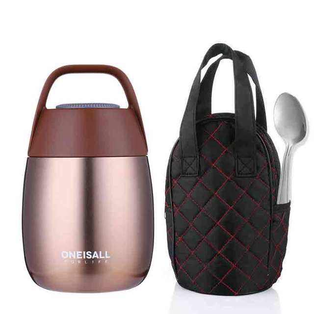 OneIsAll Stew Food Container Thermos Bottle Thermal Flask for Food Soup Pot Lunch BOX with Spoon For Food&Soup Container