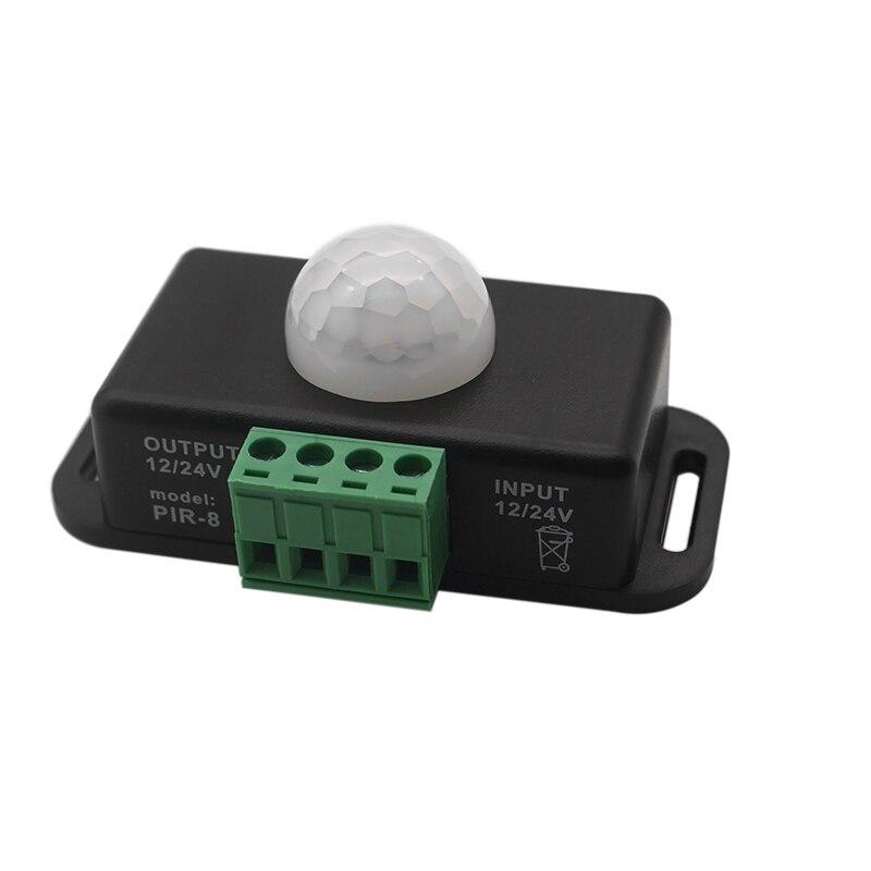 Free Shipping DC12V/24V Body Infrared PIR Motion Sensor Switch Human Motion Sensor Detector Switch Controller For LED Light
