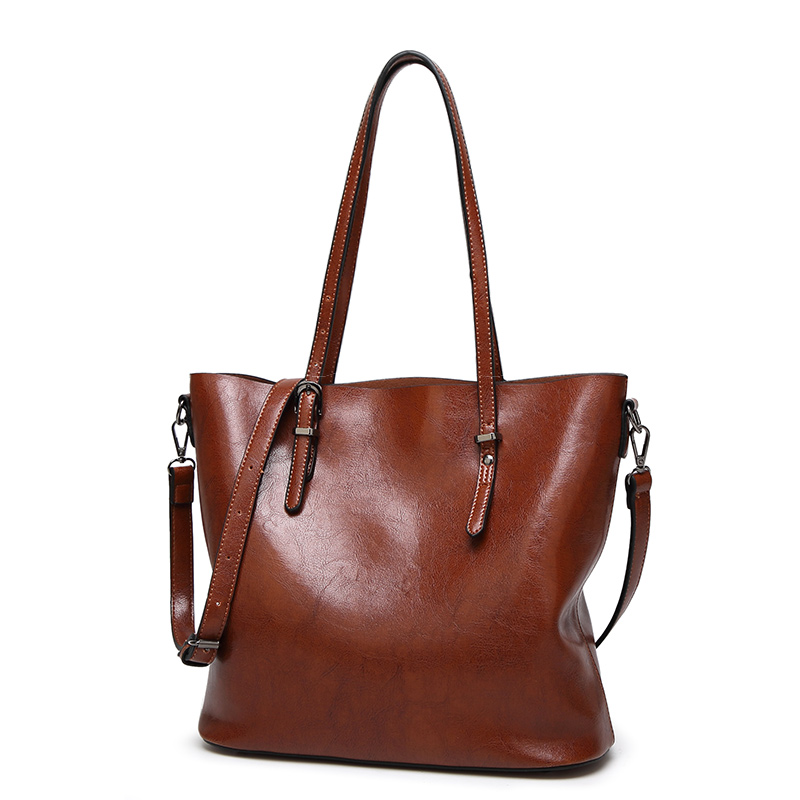 New Fashion Leather Handbags Women High quality Vintage Shoulder Bag 2016 Women's Large Tote Bags Ladies Casual Leather Bolsos 2016 new arrival fashion women handbags high quality shoulder bag ladies camouflage canvas tote bag women messenger bags bolsos