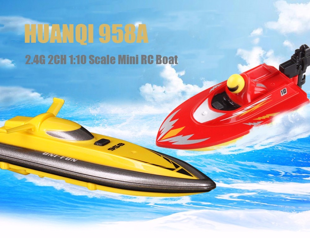 RC Boat Outdoor Children Toys Radio Control RC 2 Channels Waterproof Mini Electric Boats (1)