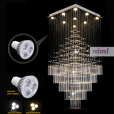 Ceiling Lights Led 30w K9 Crystal Creative Contemporary And Contracted K9crystalline Light Rectangle Bedroom Lamp Led To Absorb Dome Light Hall At Any Cost