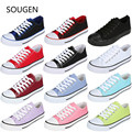 2017 Women's Shoes Fashion White Casual Shoes Women Spring Autumn Slipony Students Canvas Shoes Flat Shoes Korean Candy Red