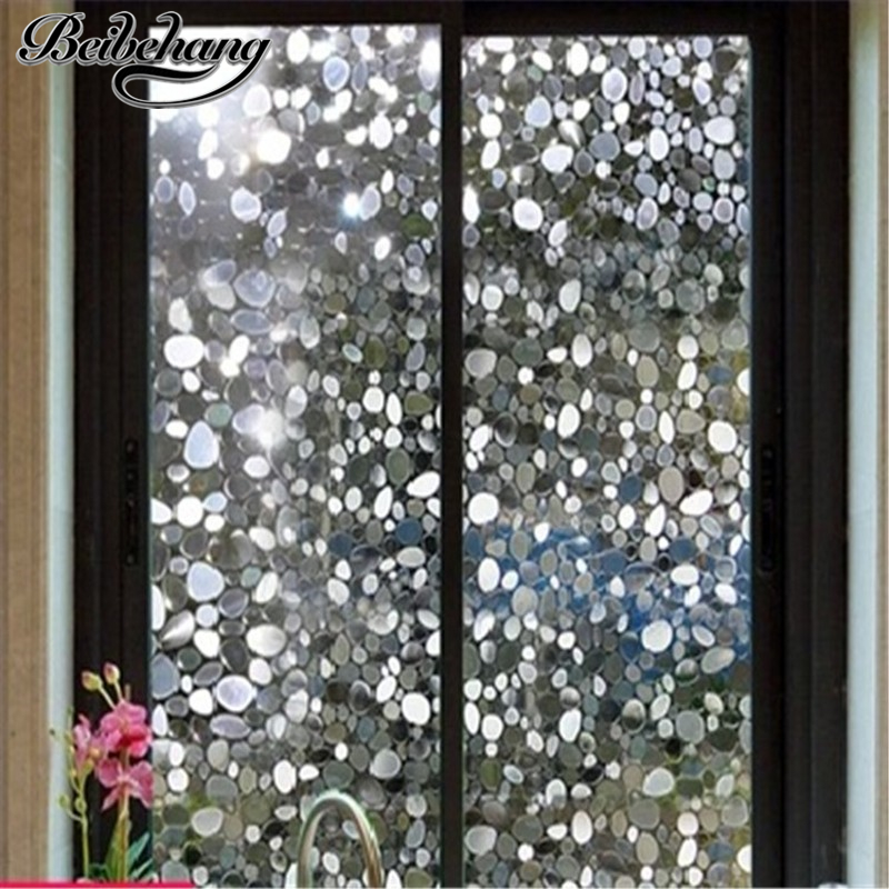Beibehang Electrostatic Without Glue Goose Warm Stone Glass Film Window Membrane Balcony Bedroom Transparent Window Cellophane