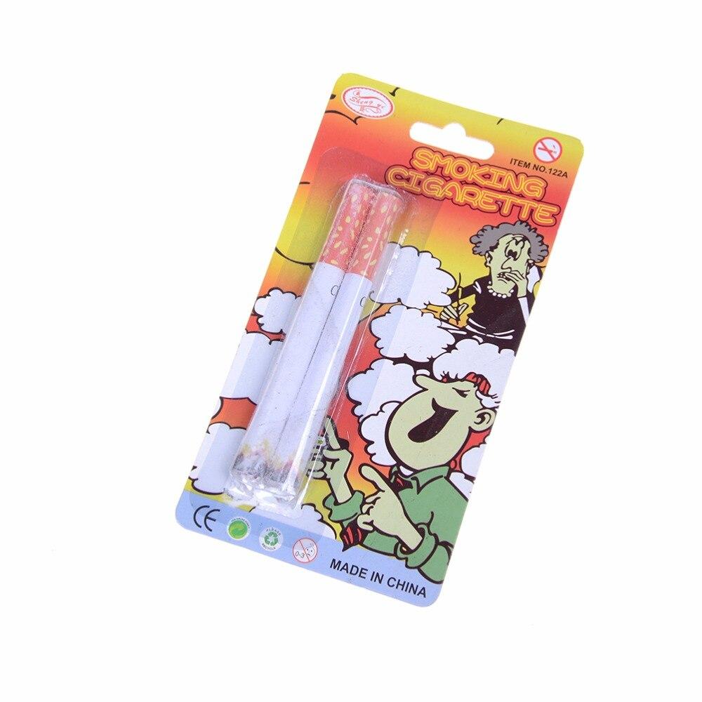 2 Stks Nieuwigheid Bananasplit Grappige Rekwisieten Prank Speelgoed Gift Magic Sigaretten Rook Nep Truc Fancy Effect Lit End