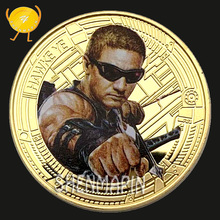 Hawkeye Commemorative Coin Avengers Marvel Movie Coins Collectibles Children's Cartoon Animation Toy Birthday Gift Super Hero