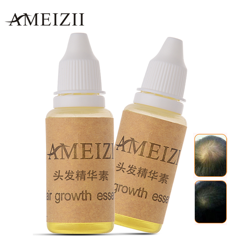 AMEIZII 2Pcs Hair Growth Essence Oil Hair Loss Liquid Natural Essential Hair Care Prevent
