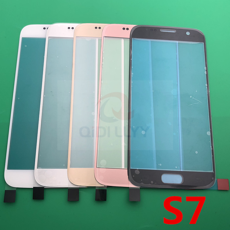 10pcs lot AAA Original Front LCD touch screen outer glass lens replacement for samsung galaxy S7