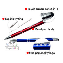 2017 New arrivals stylus pen! 10 colors for you touch screen +writing pen+logo personalized +free shipping small MOQ
