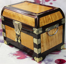 Gold Phoebe Moon Rosewood inlay jewelry box dressing jewelry box wedding gift ideas ornaments
