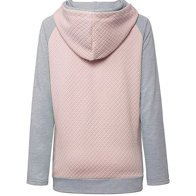 2018 New Fahsion Hoodies For Women Zipper decoration Long Sleeve Casual Spring Autumn Pullovers Female Hoodies 2