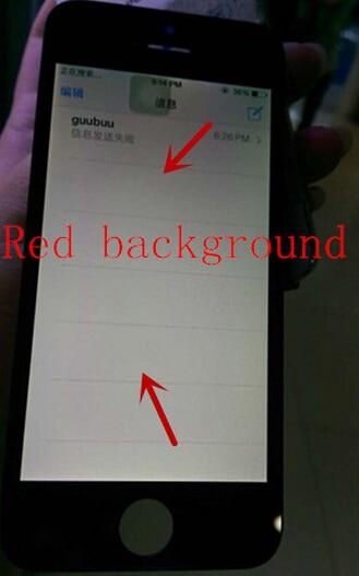 No dead pixel No spot A Reddish background LCD Display Touch Screen Digitizer Frame LCD Assembly - בדיקת טלפון לפני קנייה