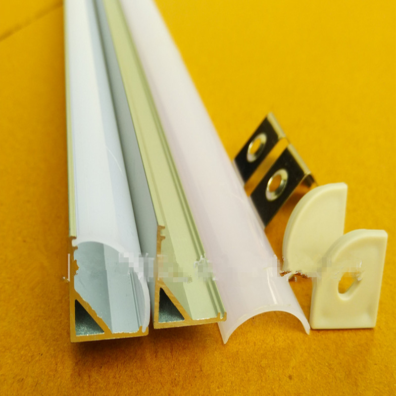 ФОТО 10pcs/lot led aluminium profile for 10mm PCB board led corner channel for 5050 strip led bar light,YD-1002