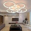 Пульт дистанционного управления гостиной спальни современные светодиодные потолочные лампы luminarias para sala затемняющий светодиодный потолоч...
