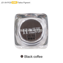 PCD Permanent Makeup Ink Lip Tattoo Ink Set Eyebrow Microblading Pigment Professional Encre A Levre 10ML 3PCS Black Coffee J21