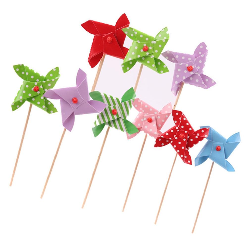 18 шт. милые мини ветряная мельница или вертушка кекс выбирает торт топперы для вечерние подарок для детей