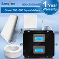 NEW Sanqino LCD Display 3G GSM 900Mhz 2100MHz Dual Band Cell Phones Signal Booster GSM 900 2100 UMTS Mobile Signal Repeater