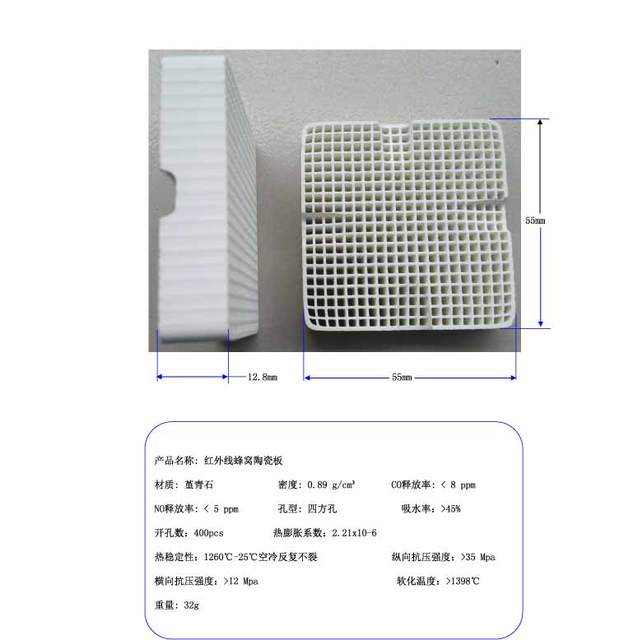 55x55mm Square Infrared Honeycomb Ceramic Plate Porous Ceramic Plate Energy Saving Plate  sc 1 st  AliExpress.com & 55x55mm Square Infrared Honeycomb Ceramic Plate Porous Ceramic Plate ...
