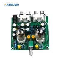 AMPLIFICADOR DE preamplificador de fiebre de tubo de CA 12V 6J1, placa preamplificadora, módulo de búfer de auriculares, potenciómetro para estéreo, Kit DIY de válvula