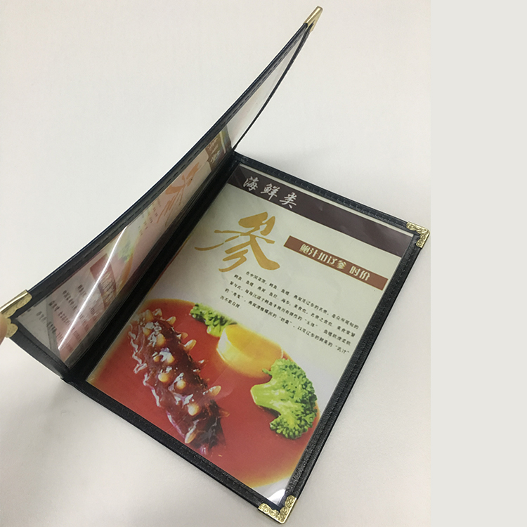 A5 2 Sheets 4 Pgaes Plastic Menu Cover,   Presentation Folder