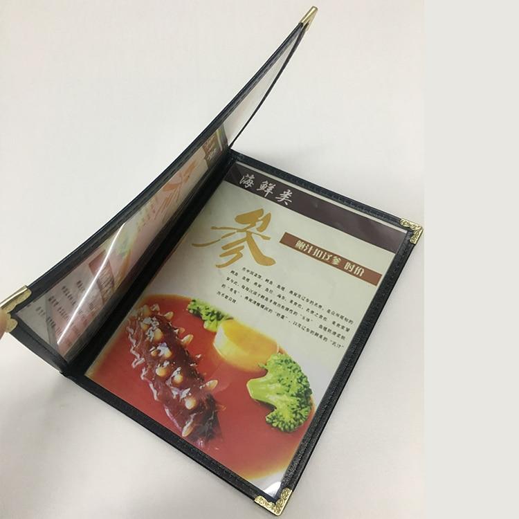 A5 2 Sheets 4 Pgaes Plastic Menu Cover,   Presentation Folder