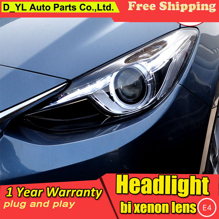 D YL Car Styling for Mazda3 Axela Headlights 2014 2016 Axela LED Headlight DRL Lens Double