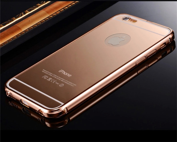 Rose Gold Case Cover For Iphone Aluminum Frame Cases 6 6plus 5 5s Mirror Back 47inch On Aliexpress