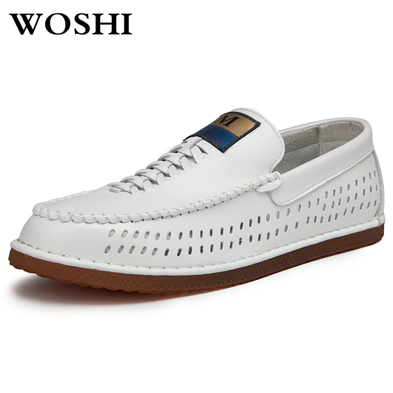Breathable Moccasins summer Men genuine Leather Shoes casual Loafers Slip on Men Sneakers Male Footwear flats shoes for men k2 gram epos 2018 male spring summer trend casual leisure pu leather shoes breathable for man footwear loafers men s slip on flats