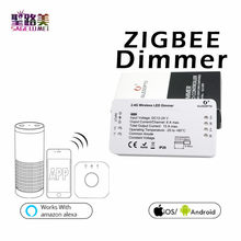 Hiled Bohlam LED Strip Controller Zll ZigBee Jembatan Smart Home ZigBee Dimmer Aplikasi Kontrol Bekerja Amazon Alexa Echo DC12-24V(China)