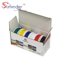 6 colors/box UL 1007 20AWG Each colors meters Airline Cable Line Electric Wire Copper PCB wire