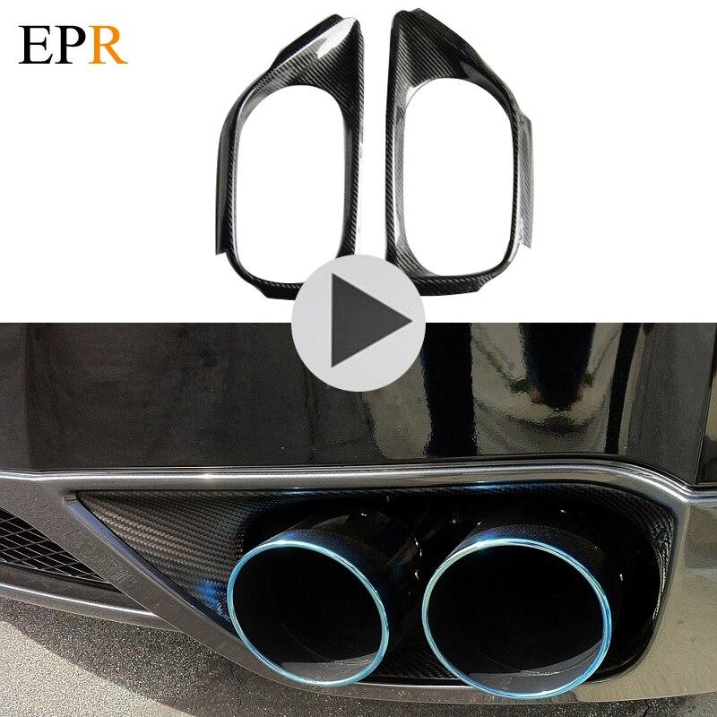 Car Accessories R35 GTR Carbon Fiber Exhaust Suround GTR Surround CF Body Kit Car Styling Car Parts For R35 GTR OEM-Style qm100hy 2h gtr modules