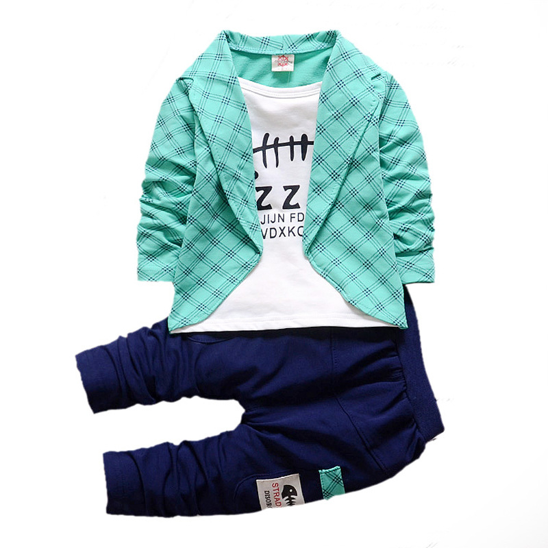 Baby Boys Girls Cotton Clothes Plaid Suits Spring Autumn Toddler Sets Children T-shirt Pants 2Pcs/Sets kids Tracksuits For 1-5 Y bibicola spring autumn baby girls boys clothes sets children stars sport suits coat pants 2pcs clothing sets kids child suits