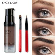 SACE LADY Eyebrow Tint 6ml Makeup Pomade Brush Kit Brown Henna Eye Brow Gel Cream Make Up Paint Pen Set Enhancer Wax Cosmetic
