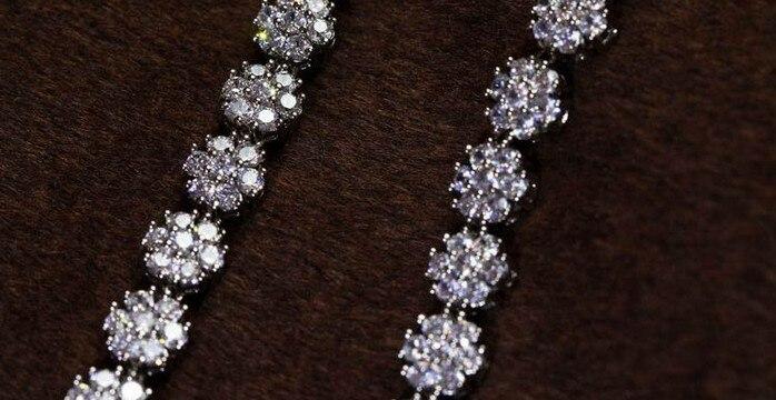 Высокое качество, белое золото, цвет AAA, высокое качество, кубический цирконий, свадебное ожерелье с подвеской для женщин, ювелирные изделия - 2