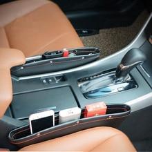 2018 новое автокресло щелевая карманы кожаный ящик для хранения ford kia sportage 3 mitsubishi lancer 10 renault logan bmw x5 e53