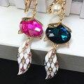 YSK57 лиса animales кристалл милые каваи дизайн подарки 2016 брелки кольца llaveros chaveiros portachiavi брелки для женщин