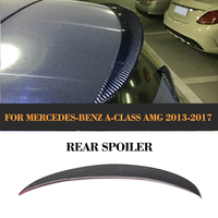 OEM Style Carbon Fiber Tail Top Window Wing Spoiler For Benz W176 A180 A200 A250 A45