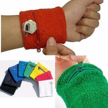 1PCS Zip Wrist Support Brace Zip Wallet Wrist Guard Protector Money Coin Bag 6Colors(China)