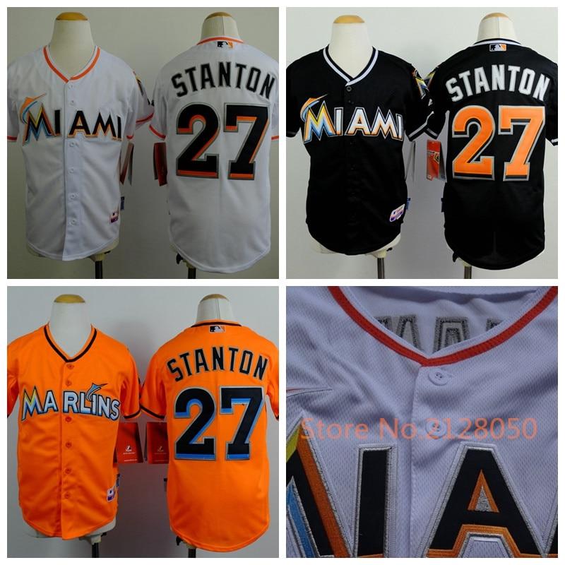 uk availability 568de c4515 Miami Marlins Kids Jersey 27 Giancarlo Stanton Authentic ...