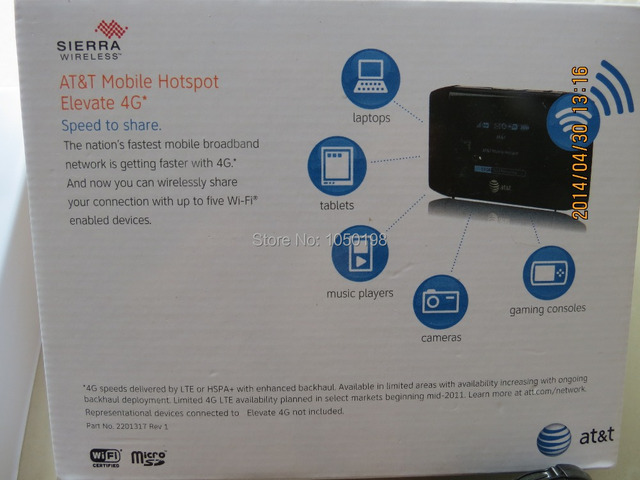 At&t sierra wireless mobile hotspot wifi elevate 4g mifi router.