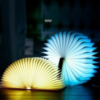 Portable USB Rechargeable LED Magnetic Foldable Wooden Book Lamp Night Light Desk Lamp Hot Sale for Home Decoration
