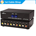 2/4/8 ports Composite RCA AV Swithcer audio video selector switch for STB,DVD,HDTV