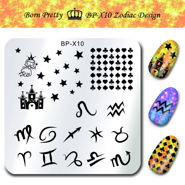 BORN PRETTY 6*6cm Square Nail Stamping Plates Lace Flower Animal Pattern Nail Art Stamp Stamping Template Image Plate Stencils