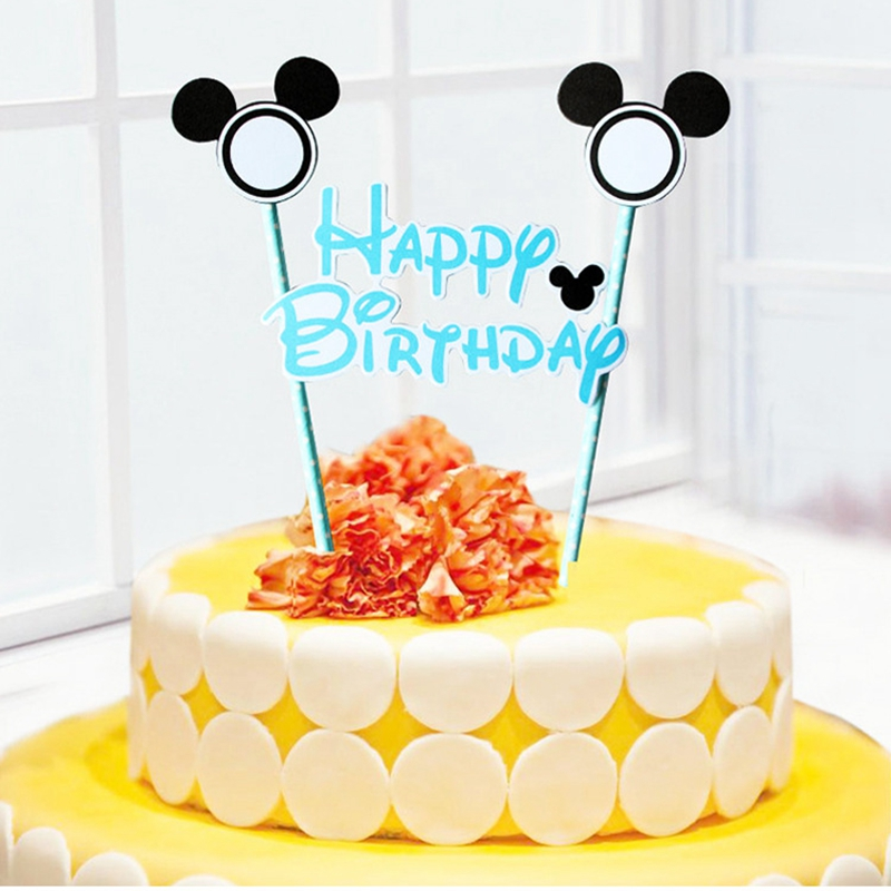 Fantastic Mickey Minnie Mouse Cake Topper For Kids Happy Birthday Party Funny Birthday Cards Online Elaedamsfinfo