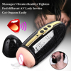 Interactive Sound Masturbator With Magnetic Balls Strong Motor Masturbation Cup Artificial Male Vagina Pussy Adult Toys