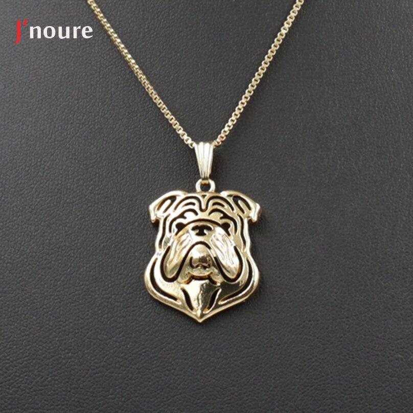 Retail Jnoure Fashion jewelry of English Bulldog dog pet pendant neckaces for Men/Women/lover Gift Jewellery Drop ship A246