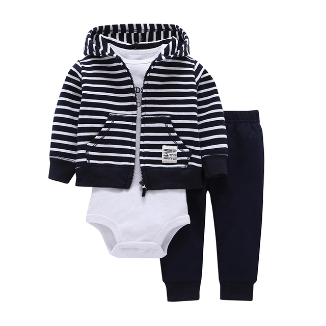 2018 bebes baby boy girls clothes set bodys bebes cotton hooded cardigan+trousers+body 3piece set newborn clothing 2